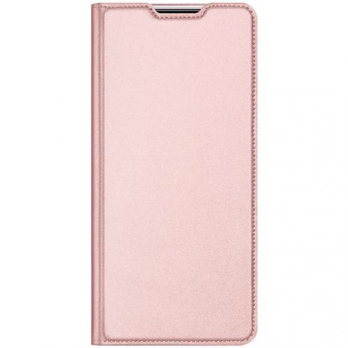 Slim Softcase Booktype voor de Xiaomi Redmi Note 9 - Rosé Goud