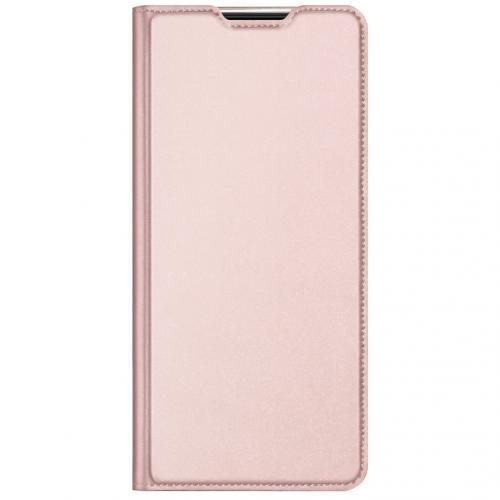 Slim Softcase Booktype voor de Xiaomi Redmi Note 9T (5G) - Rosé Goud