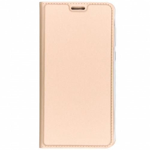 Slim Softcase Booktype voor Nokia 3.1 Plus - Goud