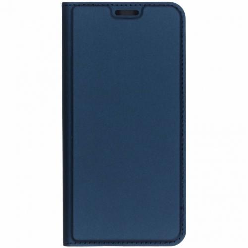 Slim Softcase Booktype voor Nokia 7.1 - Donkerblauw