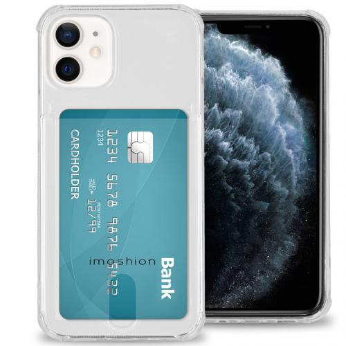 Softcase Backcover met pashouder voor de iPhone 12 Mini - Transparant