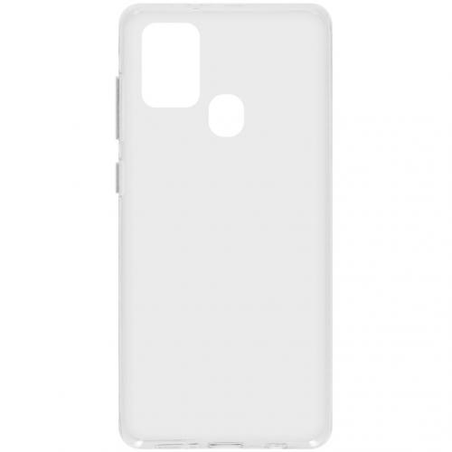 Softcase Backcover voor de Samsung Galaxy A21s - Transparant