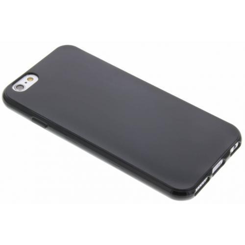 Softcase Backcover voor iPhone 6 / 6s - Zwart