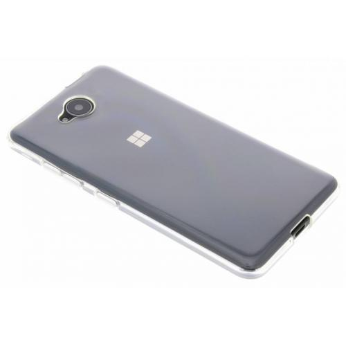 Softcase Backcover voor Microsoft Lumia 650 - Transparant