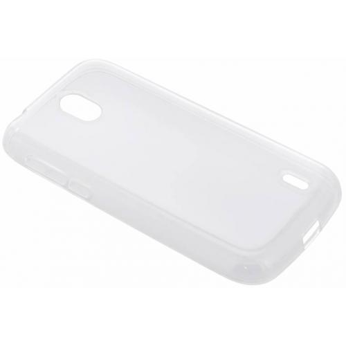 Softcase Backcover voor Nokia 1 - Transparant