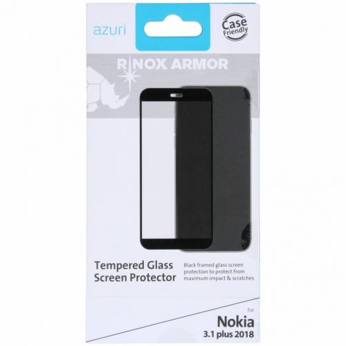 Tempered Glass Screenprotector voor Nokia 3.1 Plus - Zwart
