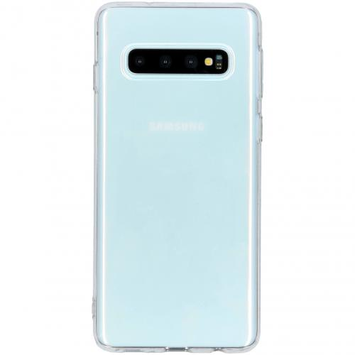 Ultra Thin Transparant Backcover voor Samsung Galaxy S10 - Transparant