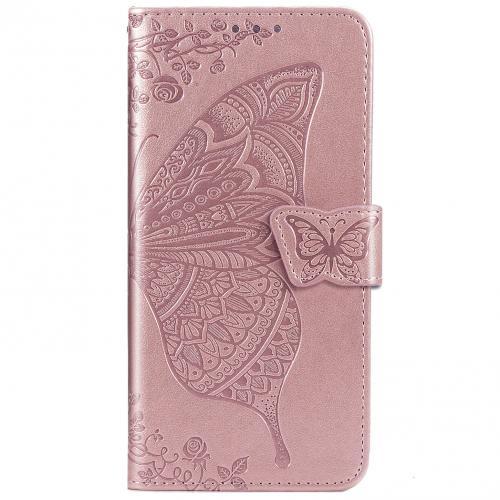 Vlinder Softcase Booktype voor de Huawei Nova 5t / Honor 20 - Rosé Goud