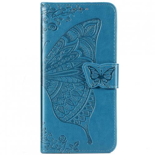 Vlinder Softcase Booktype voor de Huawei Nova 5t / Honor 20 - Turquoise