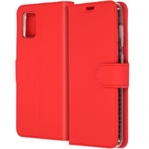 Wallet Softcase Booktype voor de Samsung Galaxy A31 - Rood