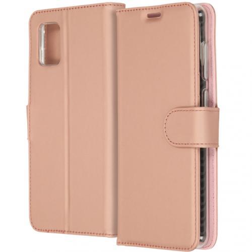 Wallet Softcase Booktype voor de Samsung Galaxy A31 - Rosé Goud