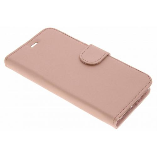 Wallet Softcase Booktype voor General Mobile GM6 - Rosé goud