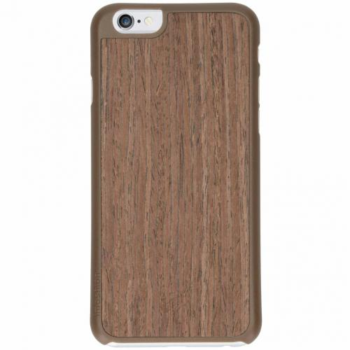 Wood Snap On Backcover voor iPhone 6 / 6s - Bruin