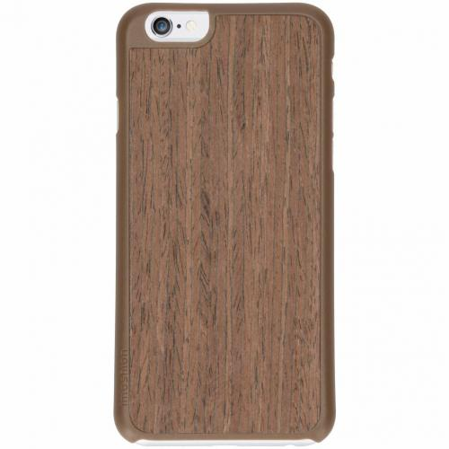 Wood Snap On Backcover voor iPhone 6 / 6s - Donkerbruin