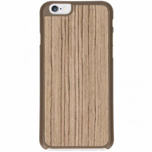 Wood Snap On Backcover voor iPhone 6 / 6s - Lichtbruin