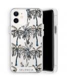 Zarya Fashion Extra Beschermende Backcover voor de iPhone 12 Mini - Palmtree