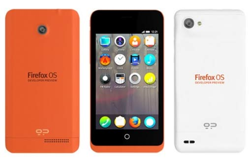 Eerste firefox telefoons