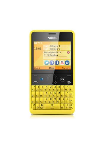 Nokia Asha 210 Yellow Azerty